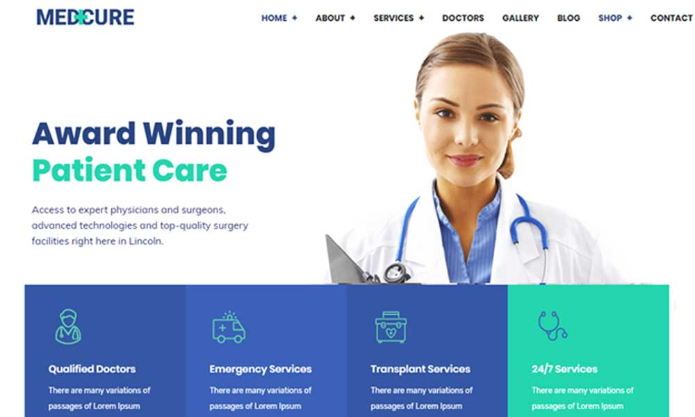 Medcure - Health and Medical Care WordPress Theme