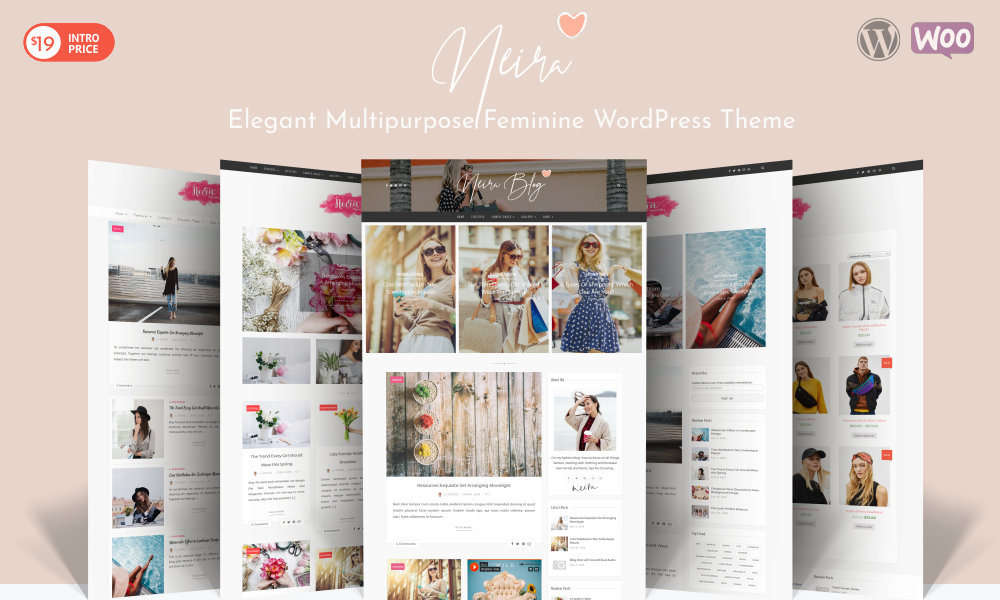 Neira - Elegant Multipurpose Feminine WordPress Theme