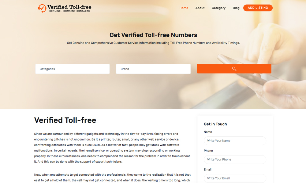 Verified Toll-free