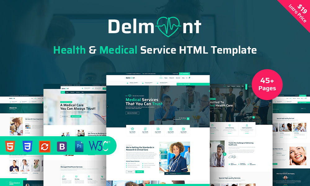 Delmont - Medical And Medical Health HTML5 Template