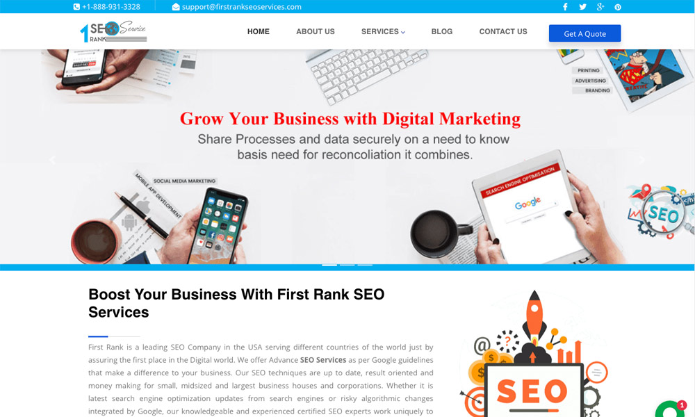 First Rank SEO Services