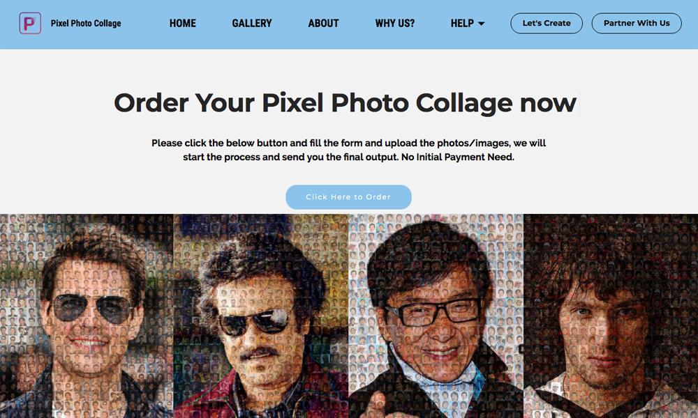 Pixel Photo Collage