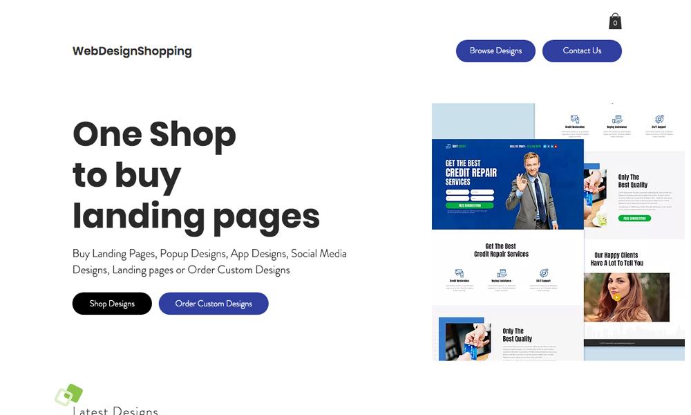 web design shopping