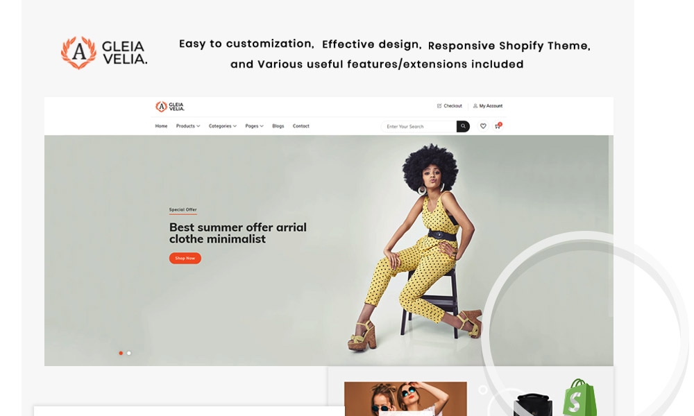 A Gelia Velia - The Fahion eCommerce Store Shopify Theme