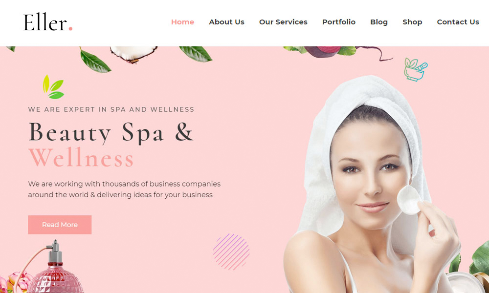 Eller - Elegant Spa & Wellness WordPress Theme