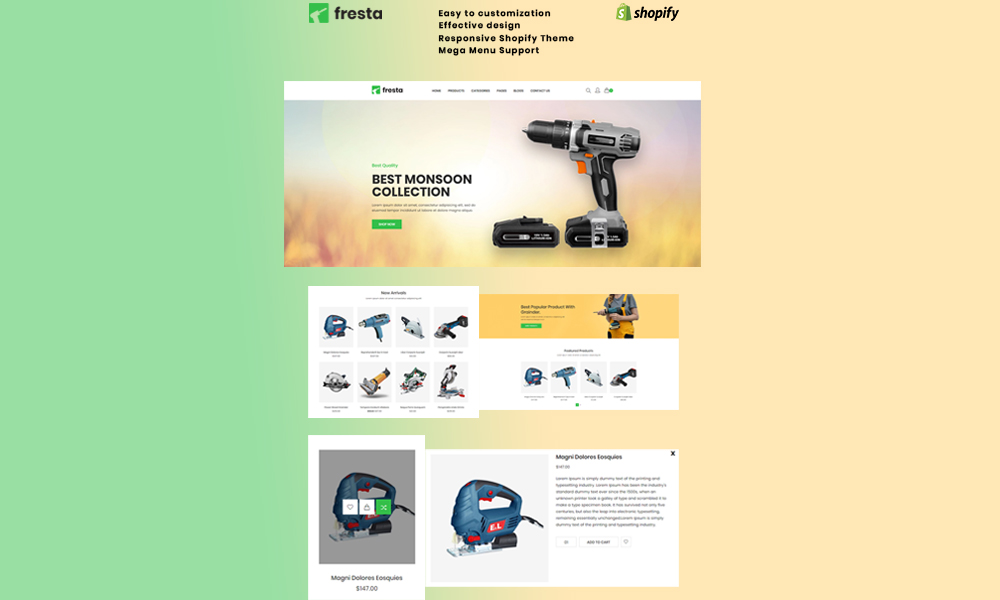 Fresta - Grinder Tools Shopify Theme