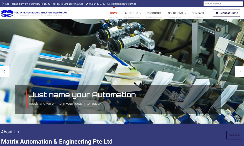Matrix Automation & Engineering Pte Ltd (MX Auto)