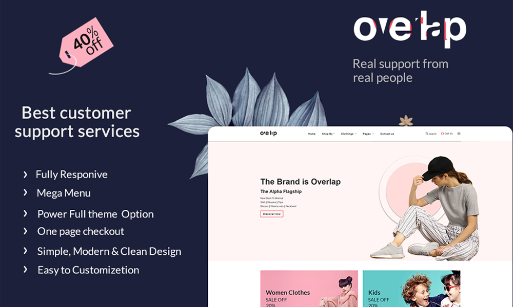 Overlap - The Fashion eCommerce Store	Template