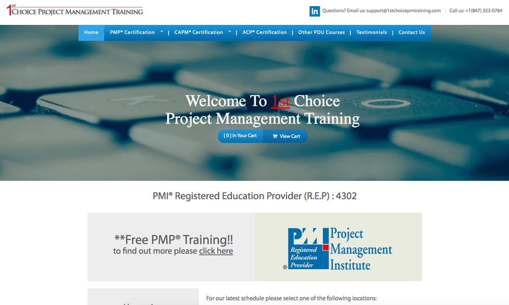 1st Choice Project Management Training