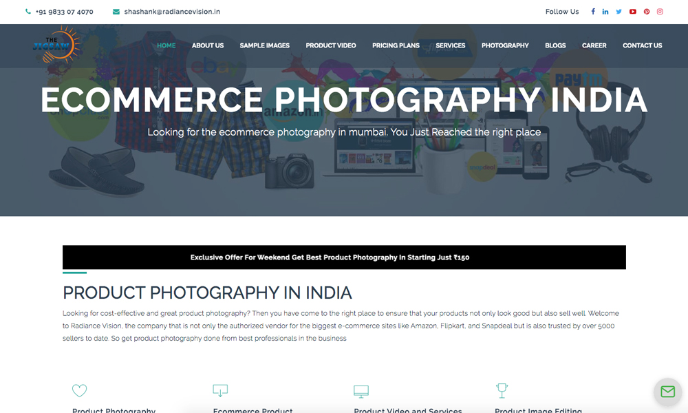 Ecommerce Product Photography India
