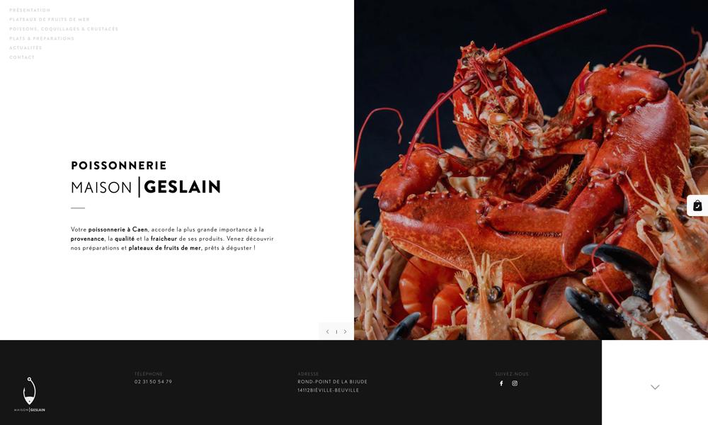 Maison Geslain, poissonnerie familiale à Caen et Paris
