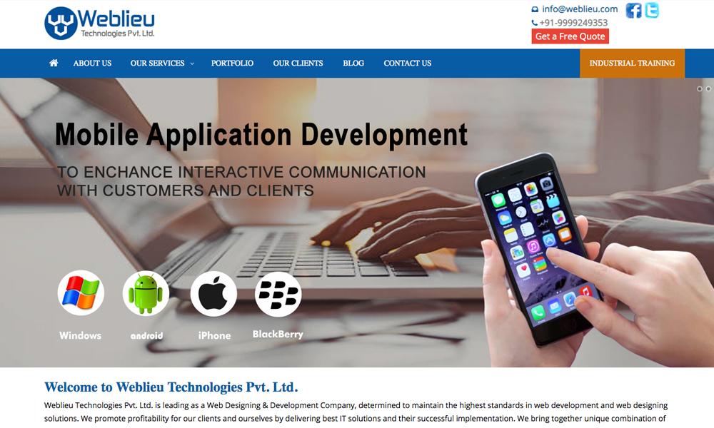 Weblieu Technologies Pvt. Ltd.