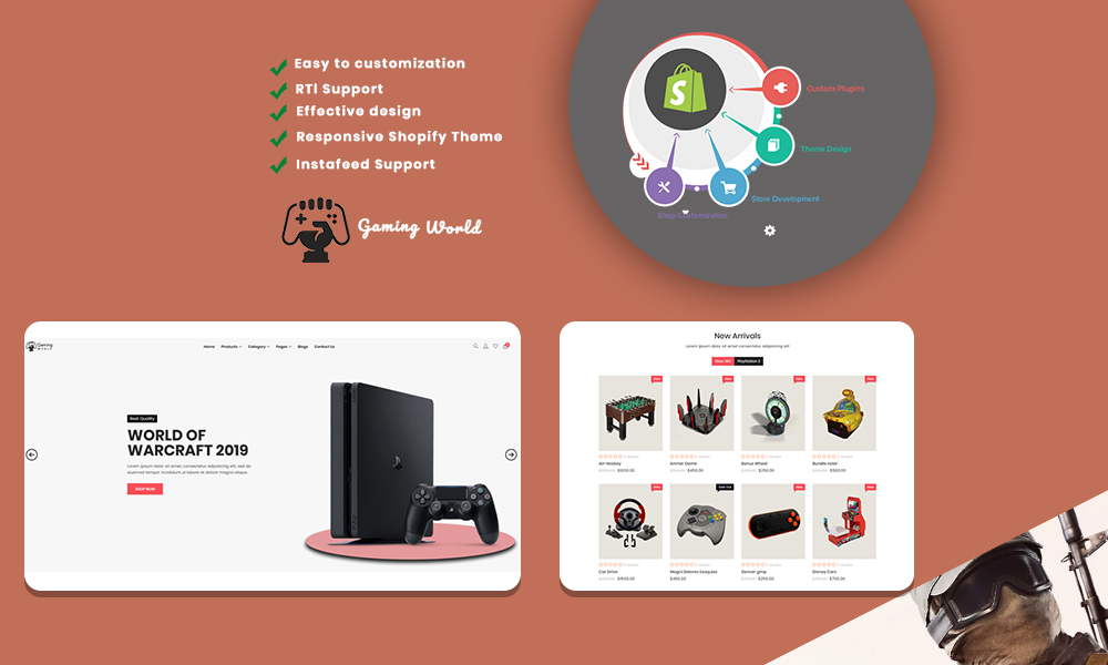 Wekia- The Gaming Shopify Theme