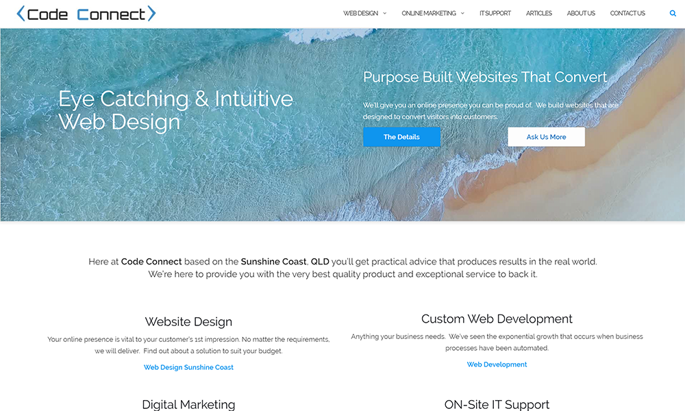 Code Connect - Web Design Sunshine Coast