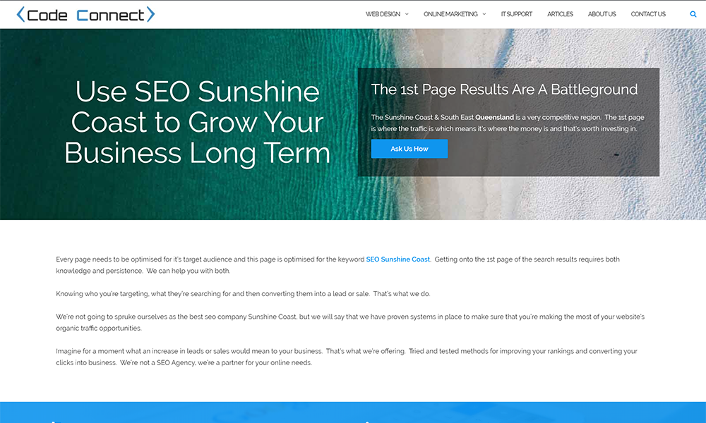 Code Connect - SEO Sunshine Coast