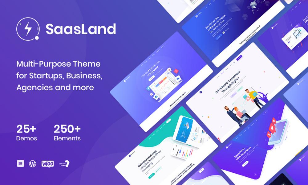 Saasland - MultiPurpose WordPress Theme for Startup