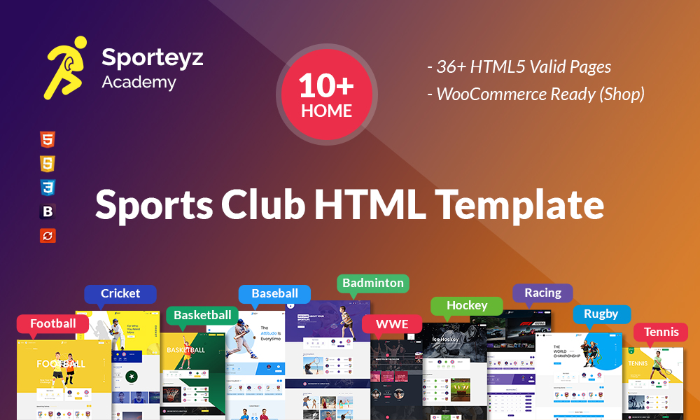 Sporteyz - Sports Club HTML Template