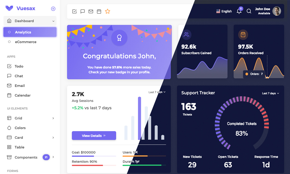 Vuexy - Vuejs HTML Admin Dashboard Template