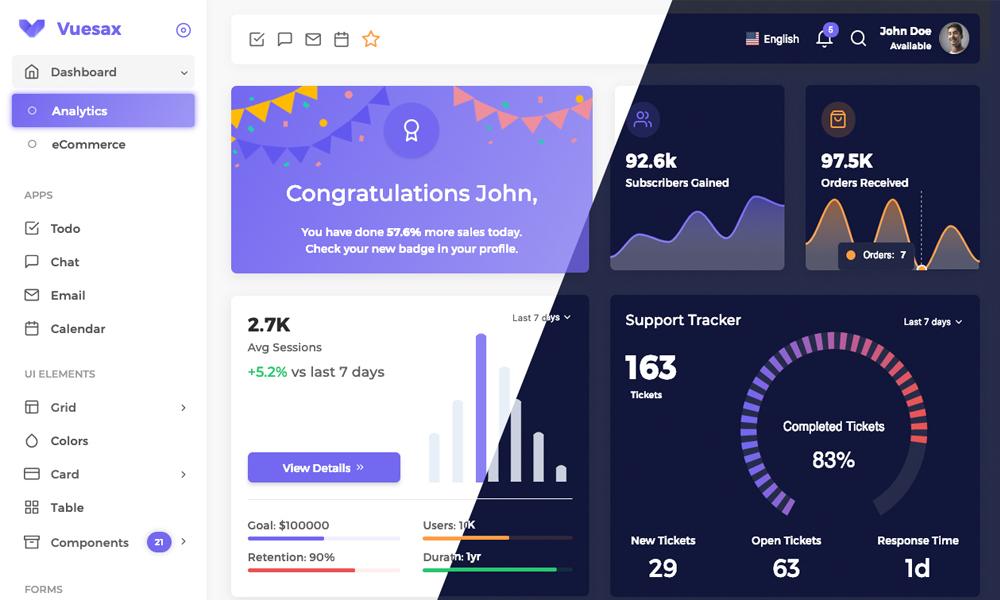 Vuexy - Vuejs HTML Admin Dashboard Template