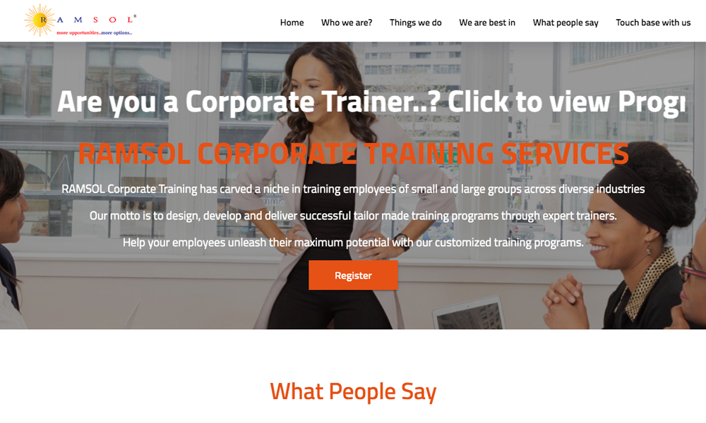 Corporate Training | Best Corporate Training | RAMSOL