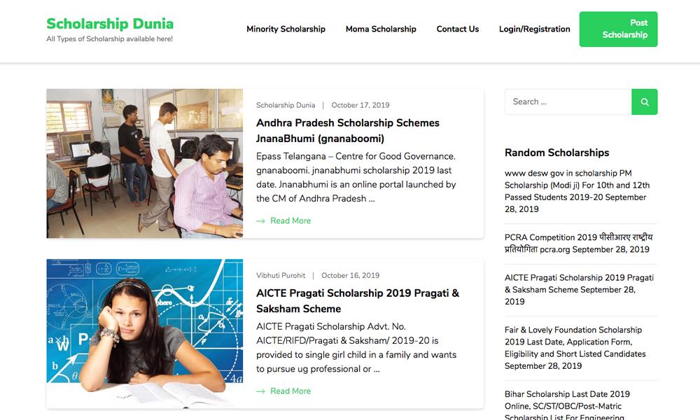Scholarship Dunia
