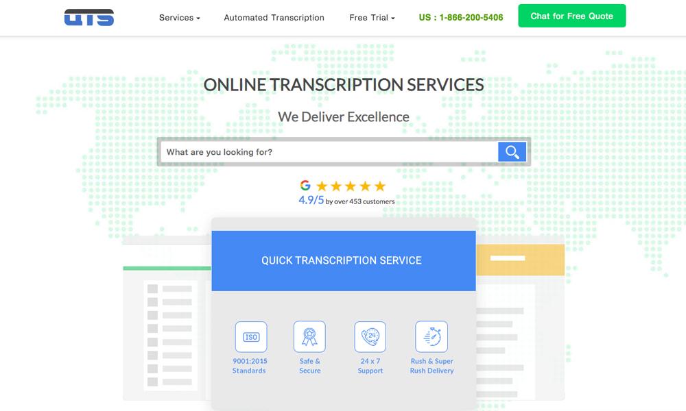 Quick Transcription Service