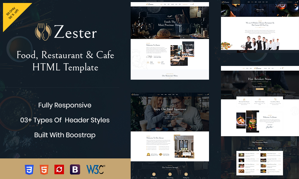 Zester - Restaurant and Cafe HTML5 Template