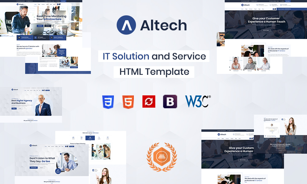 Altech  IT Solutions & Multi Services HTML5 Template