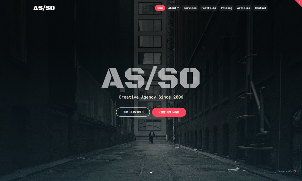 Asso - Responsive One Page Website Theme