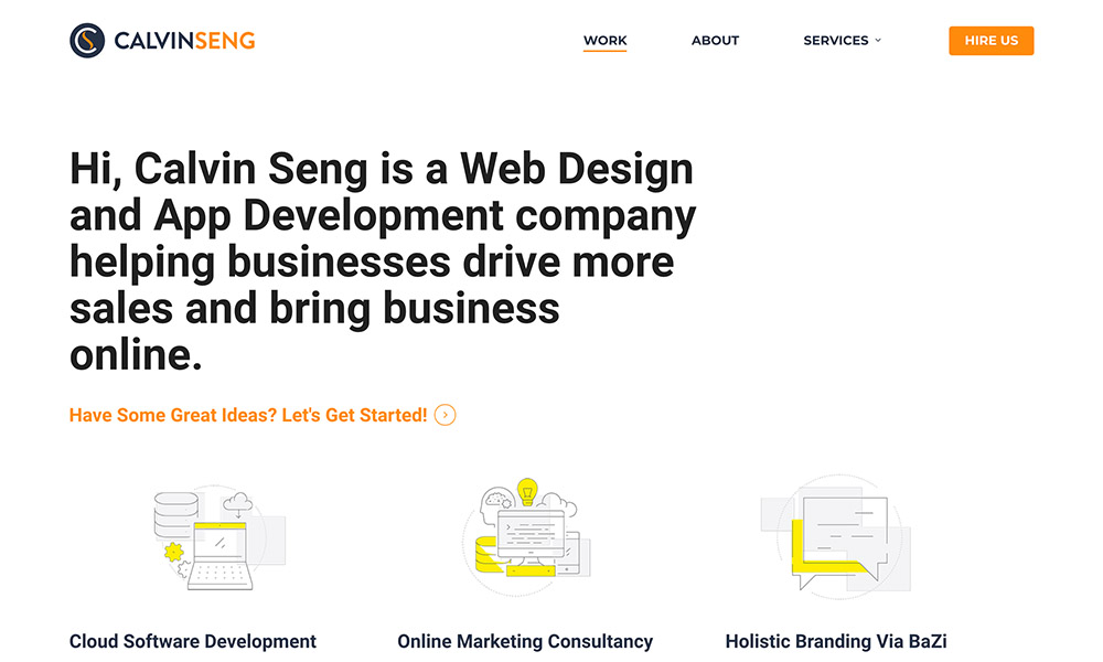 Calvin Seng - #1 Freelance Web Designer & App Developer in Singapore