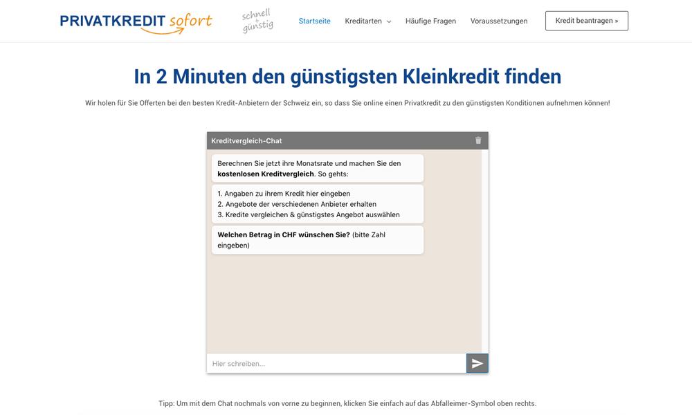 Privatkreditsofort.ch