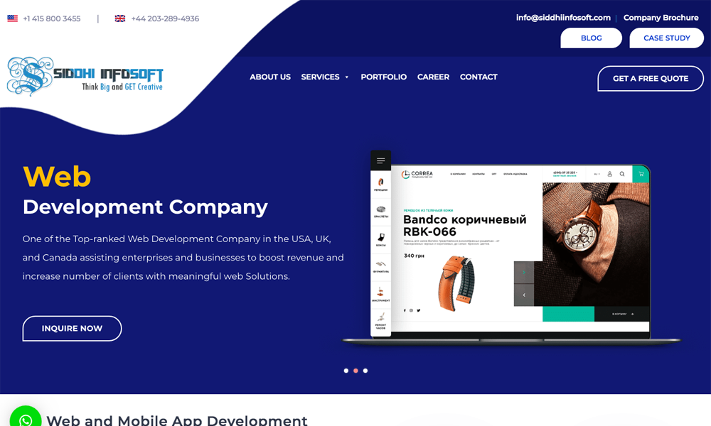 Mobile App Development Company - Siddhi Infosoft