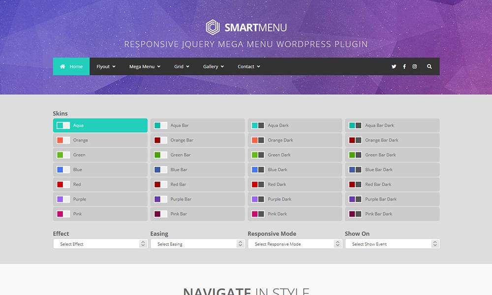 SmartMenu - Responsive jQuery Mega Menu WordPress Plugin