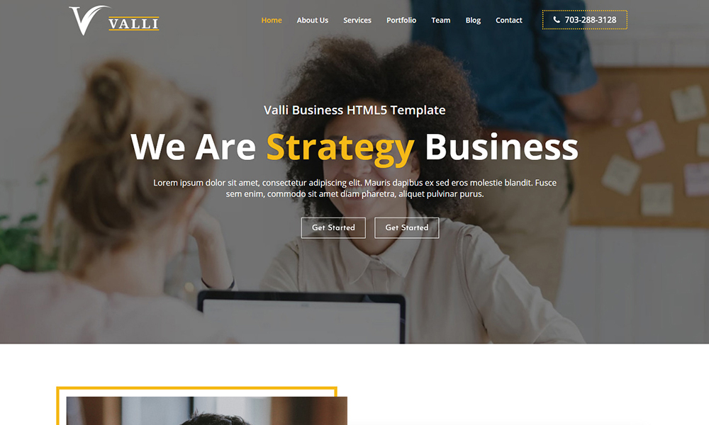 Valli - Corporate and Business Template