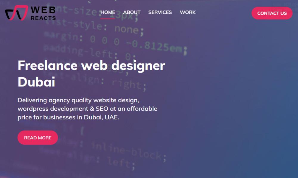 Webreacts - Web design Dubai