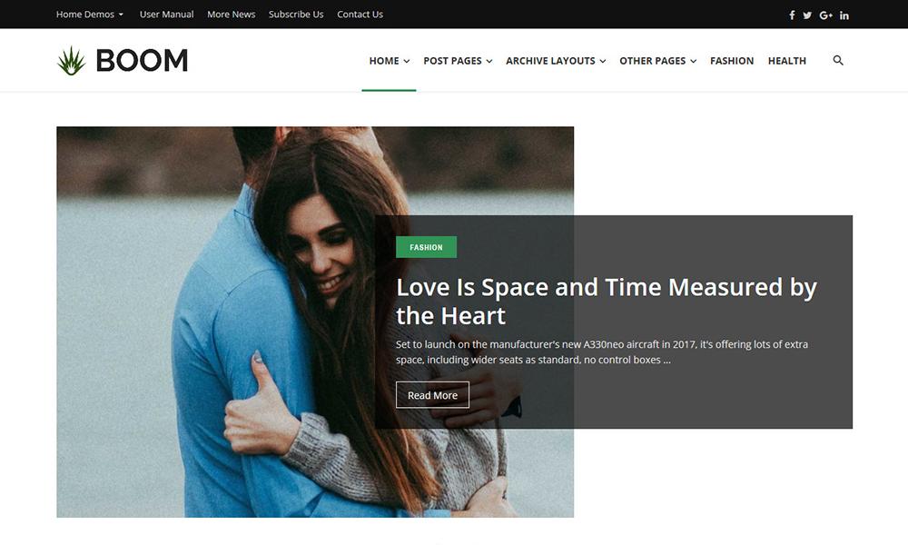 Boom - Creative Blog WordPress Theme