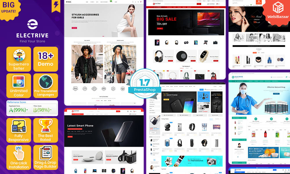 Electrive Prestashop Electronic Supermarket Theme