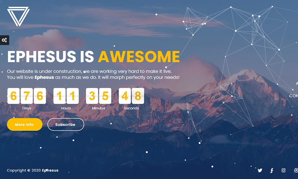 Ephesus - Creative Coming Soon WordPress Plugin