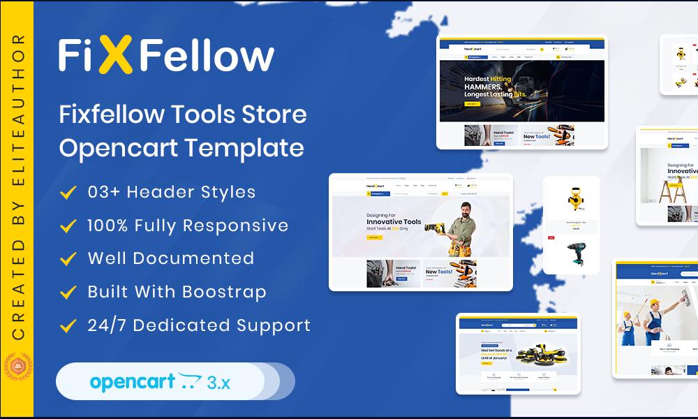 Fixfellow  Tools Store OpenCart Theme