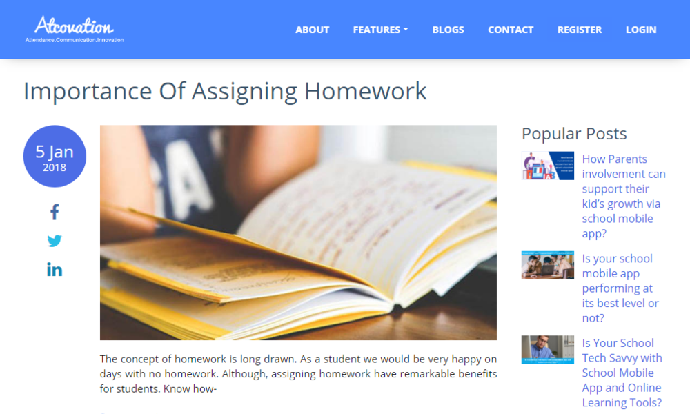 Importance Of Assigning Homework