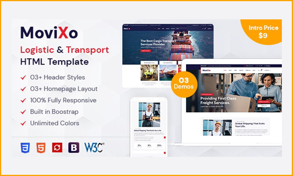Movixo – Logistics & Transportation HTML5 Template