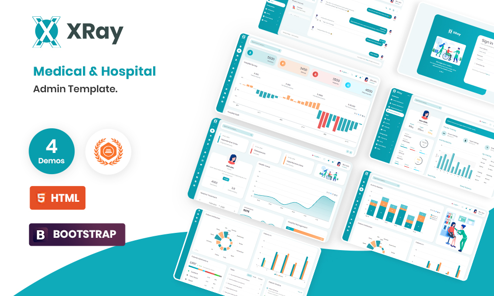 XRay - Medical and Hospital Admin Template