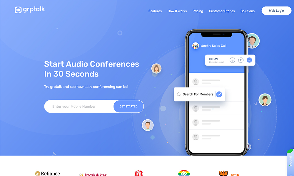 Grptalk - Audio conferencing app