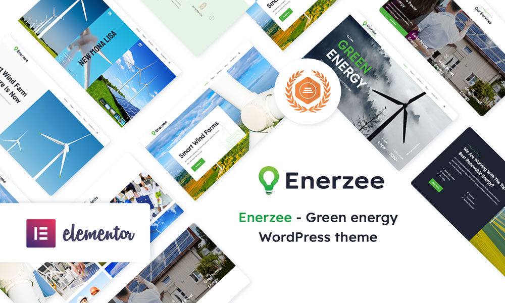 Enerzee - Renewable Energy WordPress Theme