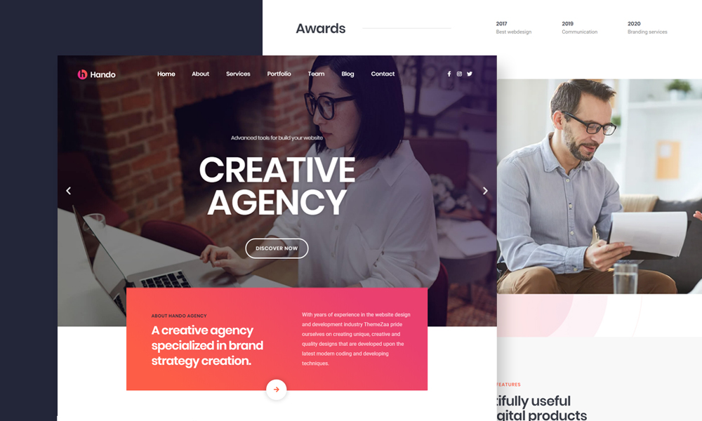 Hando - Corporate & Portfolio Elementor Template Kit