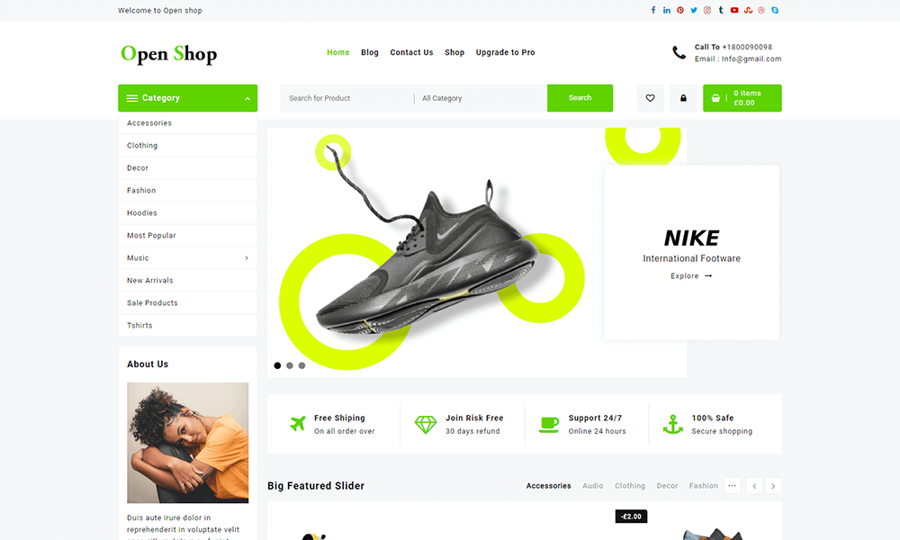 Open Shop - WooCommerce Theme