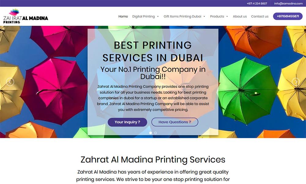 Zahrat Al Madina Printing