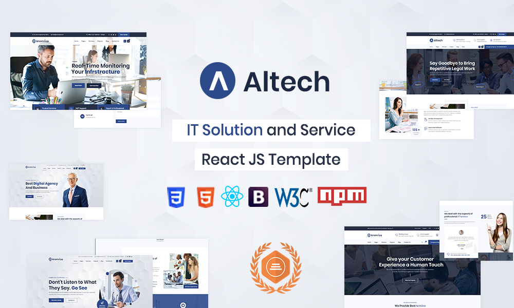 Altech - React IT Solutions & Multi Services Template