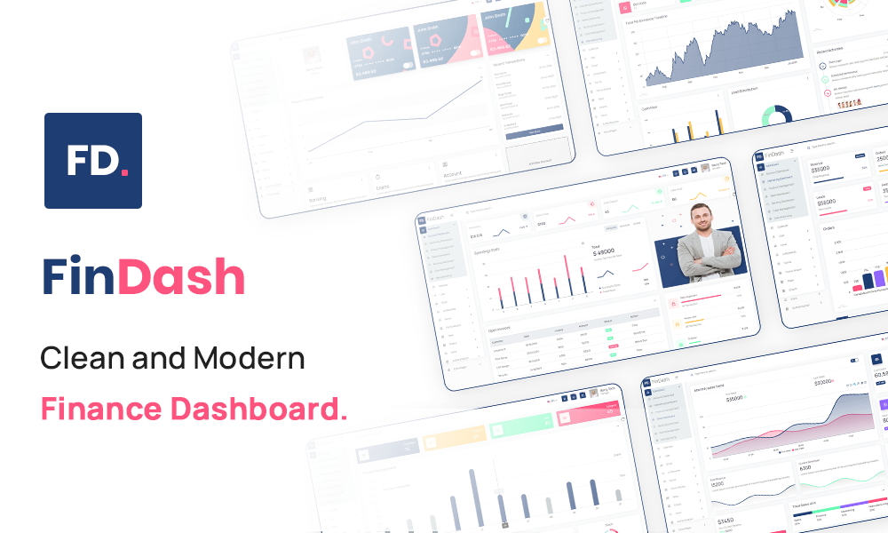 FinDash - Clean and Modern Finance Dashboard
