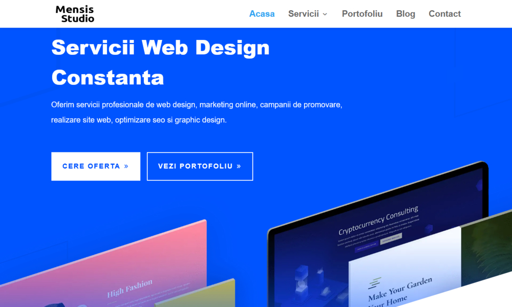 Mensis Agency - Web development